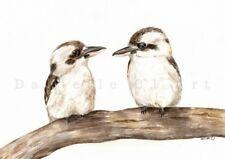 Watercolour Kookaburra Print bird paintings australian animal prints birds