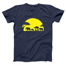 At-At Walking Africa Sunset Funny Star Wars Humor Navy Basic Men's T-Shirt