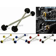 Front Rear Wheel Axle Fork Crash Sliders For 2006-2010 SUZUKI GSXR GSX-R 600 750
