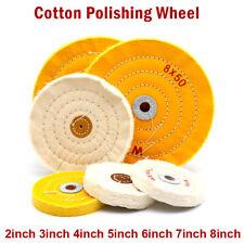 2-8 Inch Cloth Buffing Polishing Wheel Mop Bench Grinder Buffer Disc US