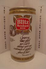 BLITZ WEINHARD ALUMINUM PUSH TAB BEER CAN #43-37-C  OREGON REFUND VALUE .5