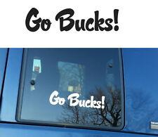GO BUCKS Ohio State Buckeyes Script vinyl decal sticker car laptop wall FOOTBALL