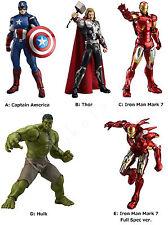 "figma MOVIE "" Avengers "" Captain America Thor Iron Man Hulk Action Figure Japan"