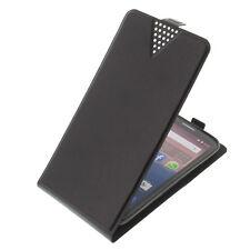 Tasche Flip-Style Smartphone Handytasche Schutzhülle Flip Case Schwarz V551