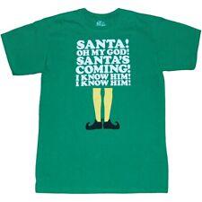 Elf Movie Santa's Coming! T-Shirt New