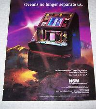 NSM PERFORMER GRAND LASER JUKEBOX LARGE MAGAZINE ADVERTISING NOT A FLYER 1992