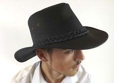 NUOVO cappello di pelle nera Bute Paese Australiano Bush Classic Taglia S M L XL XXL