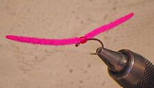 San Juan Worm Epoxy Hot Spot Hot Pink Fly Fishing Flies-New Micro Sizes