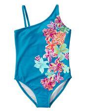 NWT Gymboree Girl blue Tropical Flower swimsuit 1 pc SZ 4 5/6 7/8 10/12