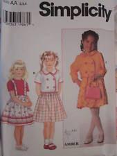 7494 Simplicity SEWING Pattern Girls Jacket Skirt UNCUT