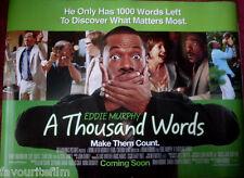 Cinema Poster: A THOUSAND WORDS 2012 (Main Quad) Eddie Murphy Cliff Curtis