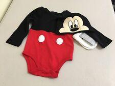 New Disney Store Mickey Mouse Costume Bodysuit Set Baby