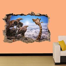 Giraffe e Eagles su Roccia Sticker Decorazione Per Soggiorno Decalcomania Murale una classe