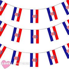 CROATIA BUNTING 33FT CROATIAN FLAG DECORATION 20 FLAGS 10 METRES EURO FOOTBALL