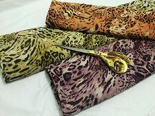 *New*Smooth Floaty Chiffon Leopard Animal Print Dressmaking Fabric**FREE P&P**