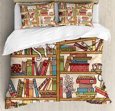 Colorful Duvet Cover Set with Pillow Shams Nerd Bohem Cat Kitten Print