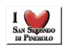 CALAMITA PIEMONTE FRIDGE MAGNETE SOUVENIR I LOVE SAN SECONDO DI PINEROLO (TO)