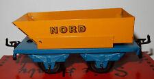 TRAIN SNCF HACHETTE HORNBY WAGON BENNE PIVOTANTE NORD jaune SCALE O 1/43 IN BOX