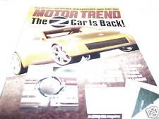 Motor Trend Magazine 3/2001 Nissan