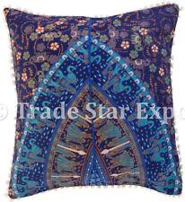 Indian Elephant Mandala Pillow Case Ethnic Home Decor Throw Square Cushion Cover