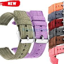 Universal 20/22mm Quick Release Pins Nylon Wrist Watch Strap Band Man Watchband
