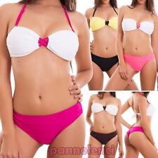 Bikini donna costume bagno brasiliana FIORI push up due pezzi nuovo SE88007