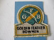 GOLDEN FEATHER BOWMAN PATCH BADGE CLASSIC VINTAGE