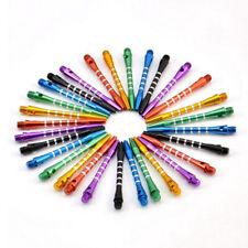 6 x Aluminum Darts 2ba Shafts 6 Colors Medium Harrows Dart Stems Throwing Pop.