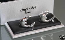 Novelty Cufflinks - Dolphin with Crystal Eye * New