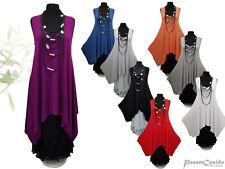PoCo LAGENLOOK Top Long Shirt Tunika Kleid 44 46 48 50 52 54 56 58 L-XL-XXL-XXXL