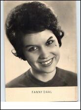 DDR Echtfoto Porträt-Postkarte Film Bühne Kino Schauspielerin 1963 FANNY DAAL