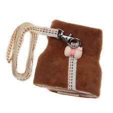 petit animal marron vêtements harnais réglable plomb laisse corde de