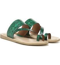 Leila Green Snake Franco Sarto Flat Sandal