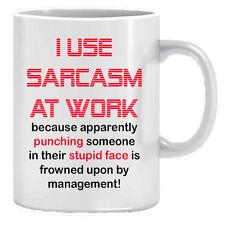 SARCASM WORK MUG funny novelty tea coffee gift womens mens office present idea