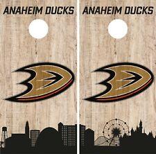 Anaheim Ducks Cornhole Wrap Nhl Game City Skyline Skin Vinyl Decal Co885