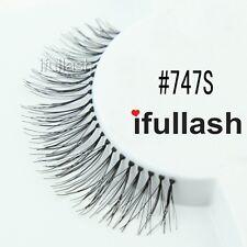 #747S 6 or 12 pairs of ifullash 100% human hair Eyelashes- BLACK