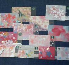 Starbucks Japan cards sakura cherry blossom pink