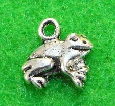 10Pcs. Tibetan Silver FROG Toad Charms Pendants Earring Drops Findings TF10A