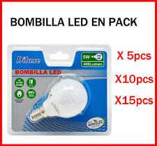 BOMBILLA LED 5W CASQUILLO PEQUEÑO E14 LUZ BLANCA 6400K PACK DE AHOORO DESDE 5 UD
