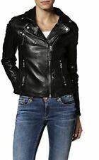 New Fashion Style Womens Leather Jackets Motorcycle Bomber Biker Jacket