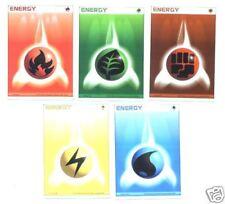 Lot 5 cartes POKEMON ENERGIES JAPONAISE Lot N° LCPE5 01