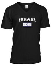 Israel Country Flag Israeli Shalom Pride Football Soccer Mens V-neck T-shirt