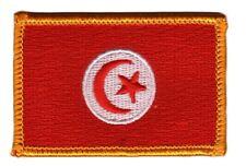 Toppe Toppa PATCH TUNISIA 7x4,5cm Bandiera banderina ricamata termoadesivo
