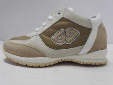 Balducci Sneakers scarpe sportive Bambina Pelle lacci beige gomma antiscivolo