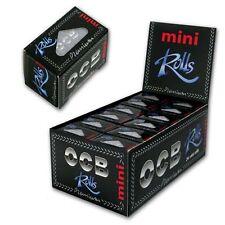 OCB Premium Mini Rolls Black Smoking Cigarette Rolling Papers - 36mm Wide