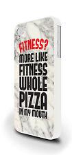 Fitness? Funny Pizza Slogan Cover Custodia Per iPhone 4/4s 5/5s 5c 6 6 Plus