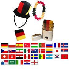 Sonia Originelli Fan-Paket-8 WM EM Fußball Fan Schweißband Kette Schminkstift H