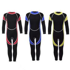 Kinder Mädchen Jumpsuit Tauchanzug Surf Wetsuit Neoprenanzug Langarm XS-XXL