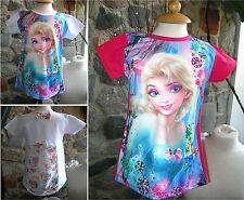 Frozen - Maglia bambina Decoro Dietro T-shirt Short Sleeves Anna e Elsa TT003-4