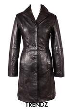Ladies MIDDLETON BLACK (3476) Classic Knee Length Lambskin Leather Jacket Coat